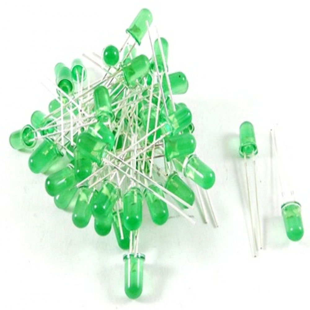 Pack Led 5mm x 10 Unidades Verdes