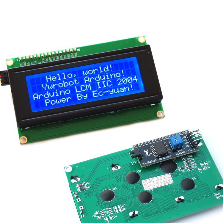 Display Lcd 2004 Fondo Azul 20x4 + Adaptador I2c